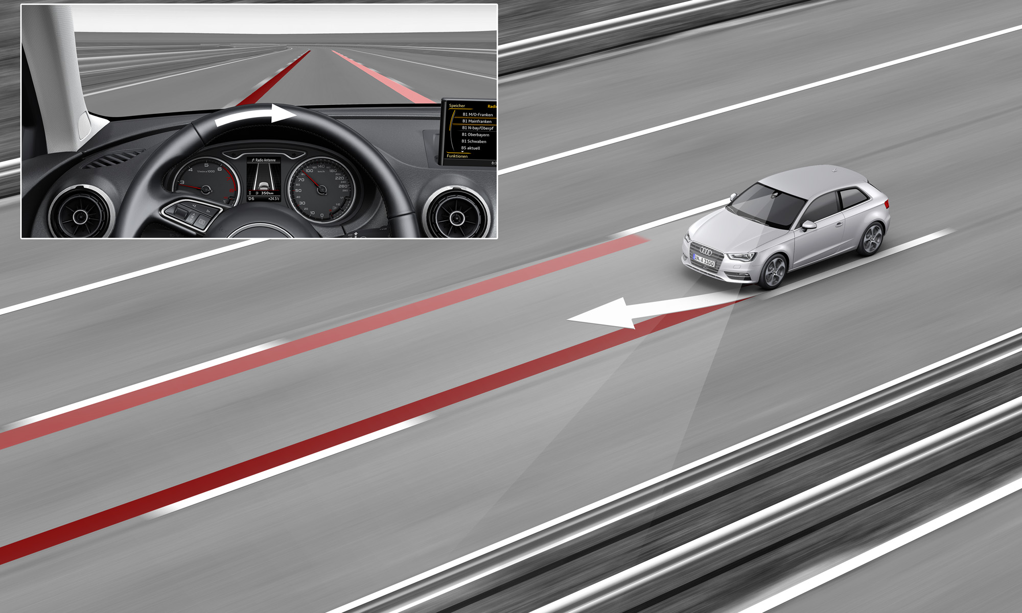 audi and skoda active lane assist system