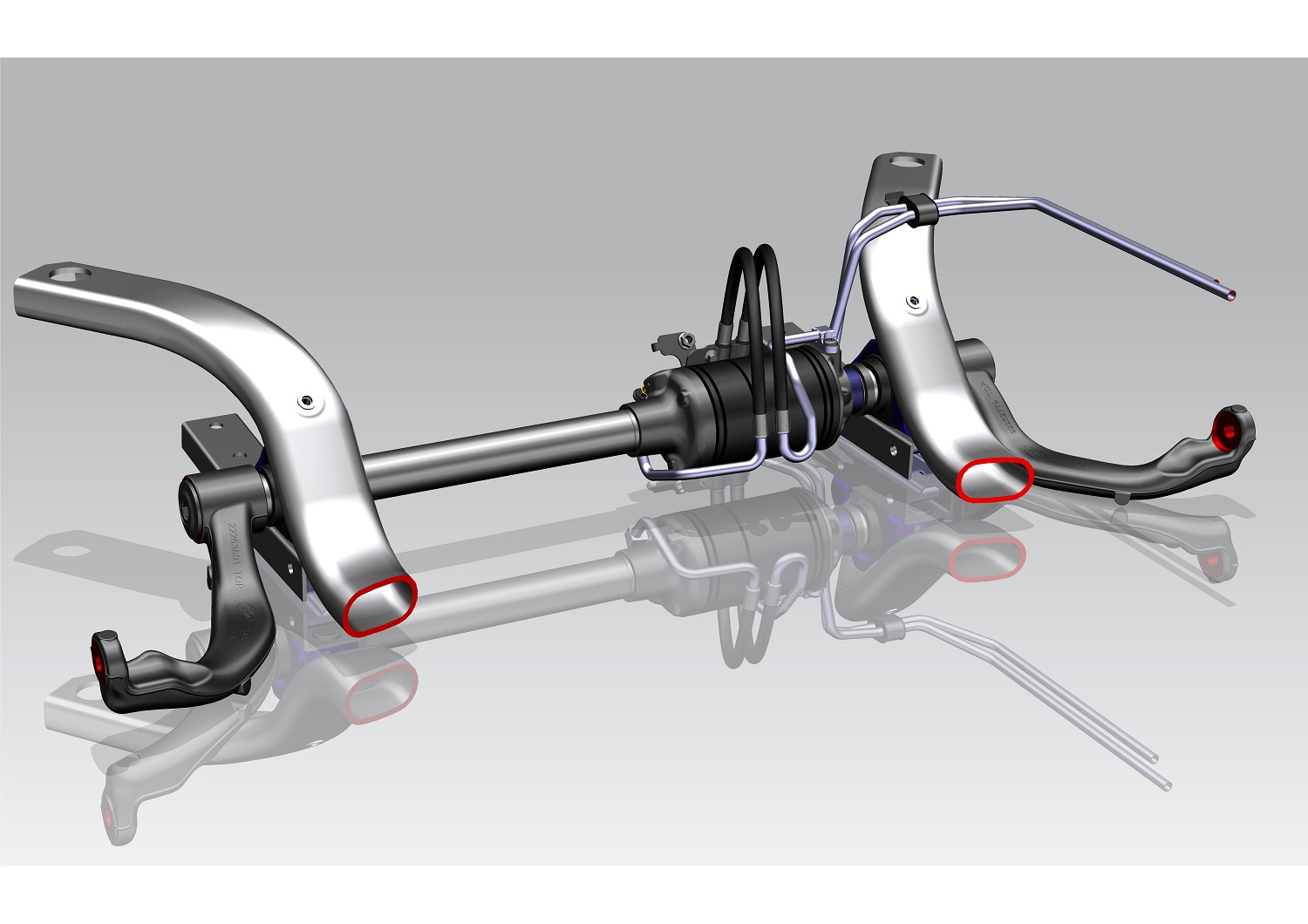 Range Rover Sport suspension design using BWI airspring and