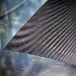 Close up of carbon fibre composite