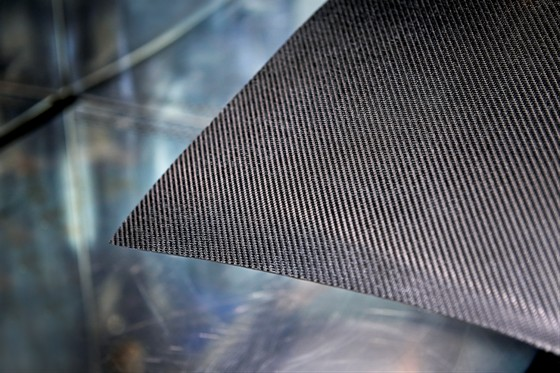 Close up of carbon fiber composite