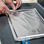 Placing the silver super capacitor laminates on the outer skin of the trunk lid