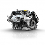 Renault-three-cylinder-turbocharged-90hp-petrol-engine-titled-at-an-angle-of-49°