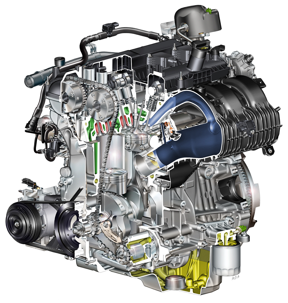Ford Ecoboost Liter Gasoline Engine on Twin Scroll Turbo Diagram