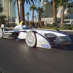 Formula E car in Las Vegas