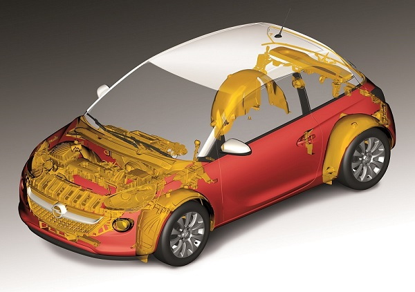 Opel Adam recycled material usage
