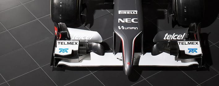 Sauber C33-Ferrari nose view