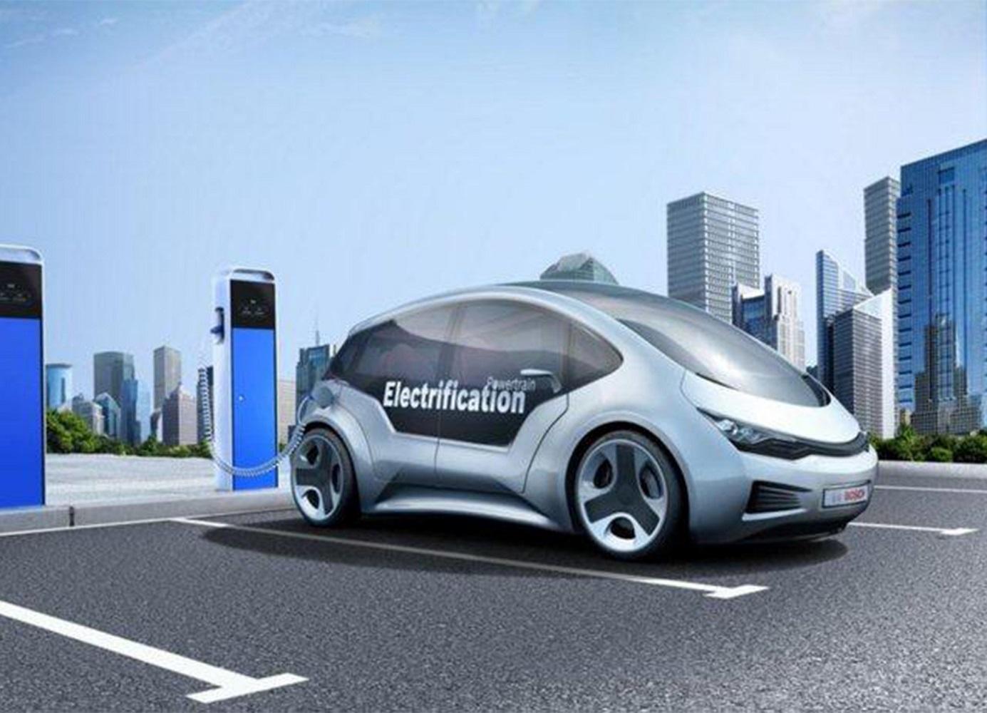 Vue d'artiste d'un véhicule équipé de batteries développées par Lithium Energy and Power GmbH & Co. KG