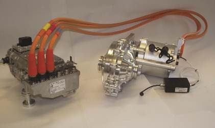 Zytek's 25kW powertrain through a Vocis single ratio transmission