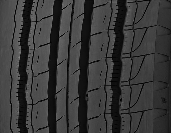 Michelin tire five-rib tread design