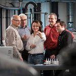 Researchers working on liquid crystal lubricant