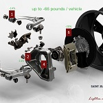 Saint Jean Industries Lightweight chassis parts