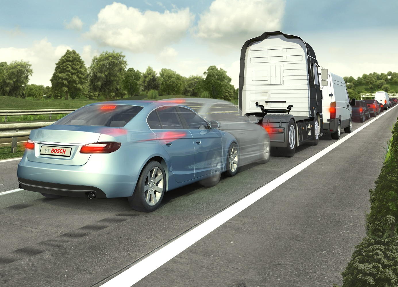 Bosch predictive emergency braking system