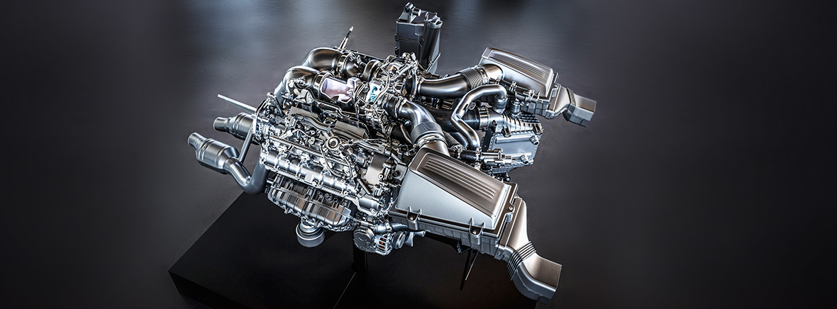 Mercedes-Benz AMG V8 Biturbo engine