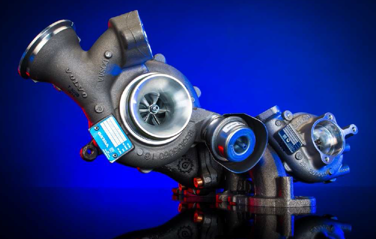 BorgWarner Two-stage turbocharging for the new Drive-E Volvo engine