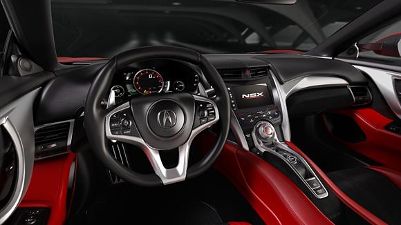 Intérieur de la Honda NSX 2015