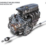 2016 Chevrolet Malibu Hybrid 1.8L Engine