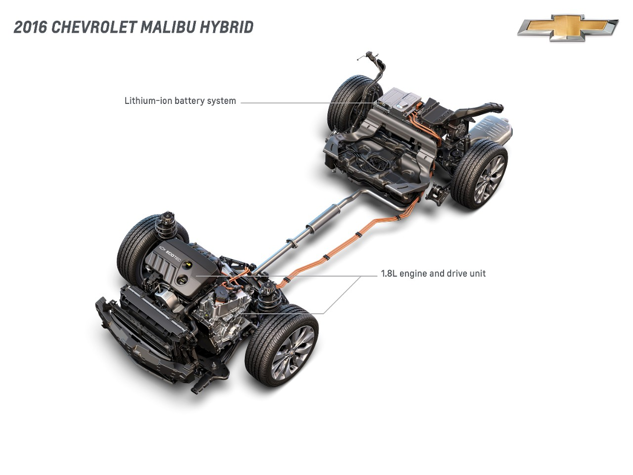 2016 Chevrolet Malibu Hybrid powertrain
