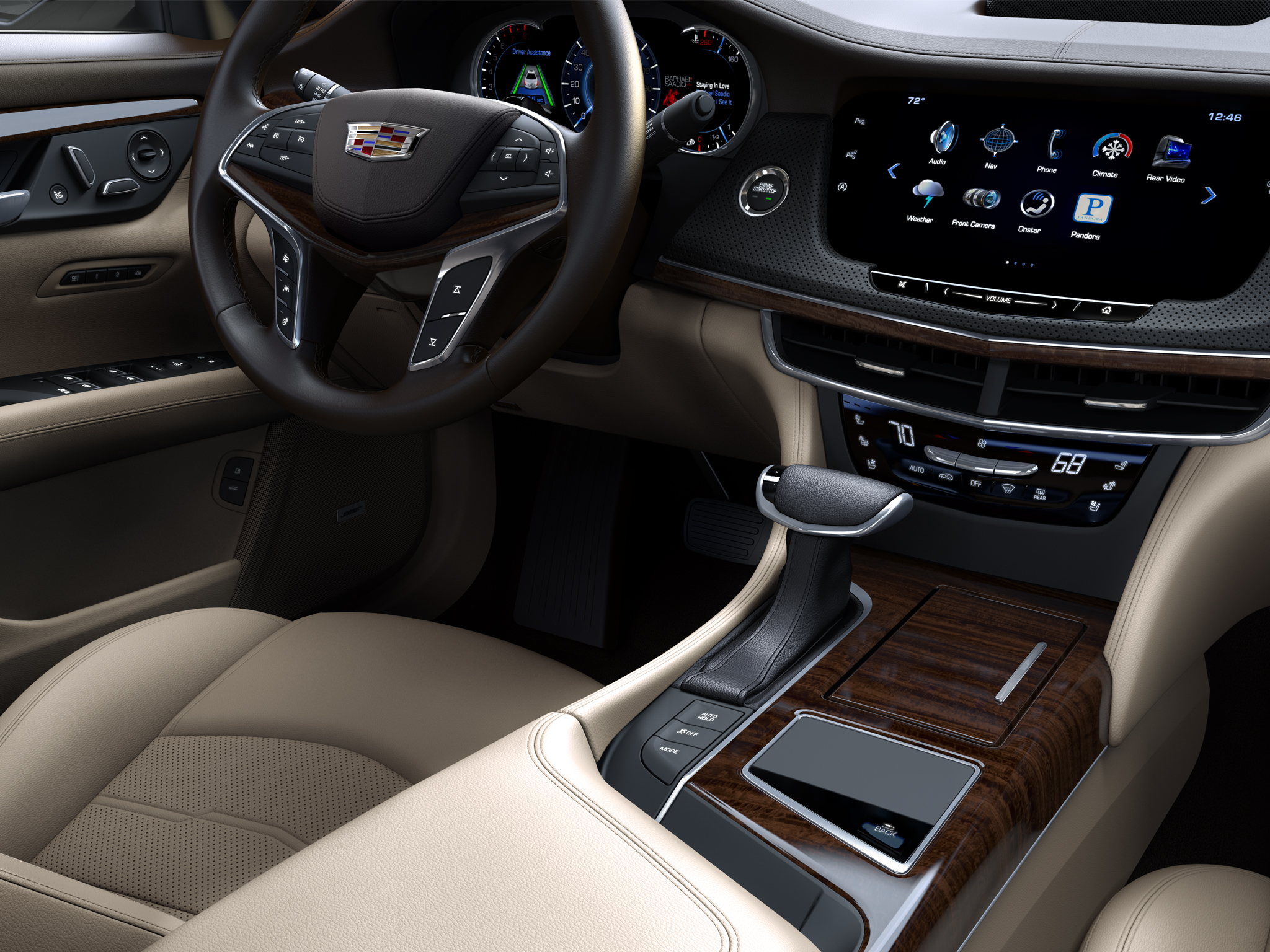 2016 Cadillac CT6 PHEV interior