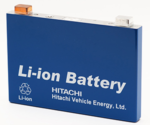 Hitachi prismatic Li-ion battery cell