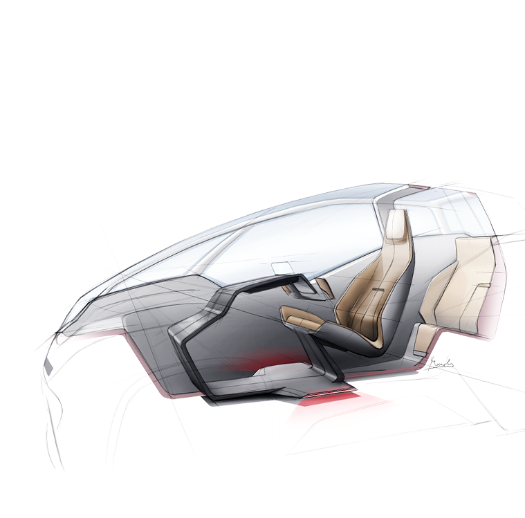 Uniti electric car early sketch