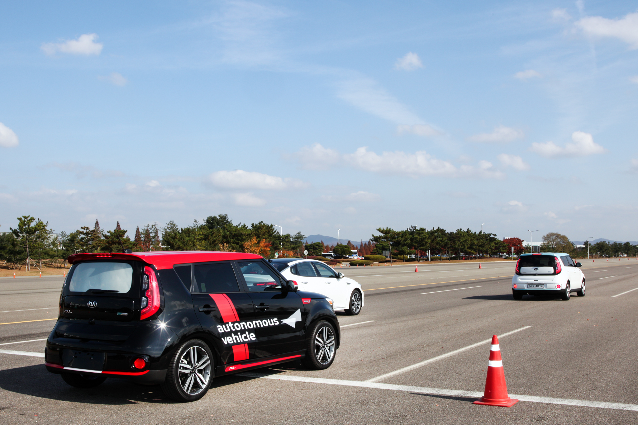Kia Soul EV during an autonomous test drive