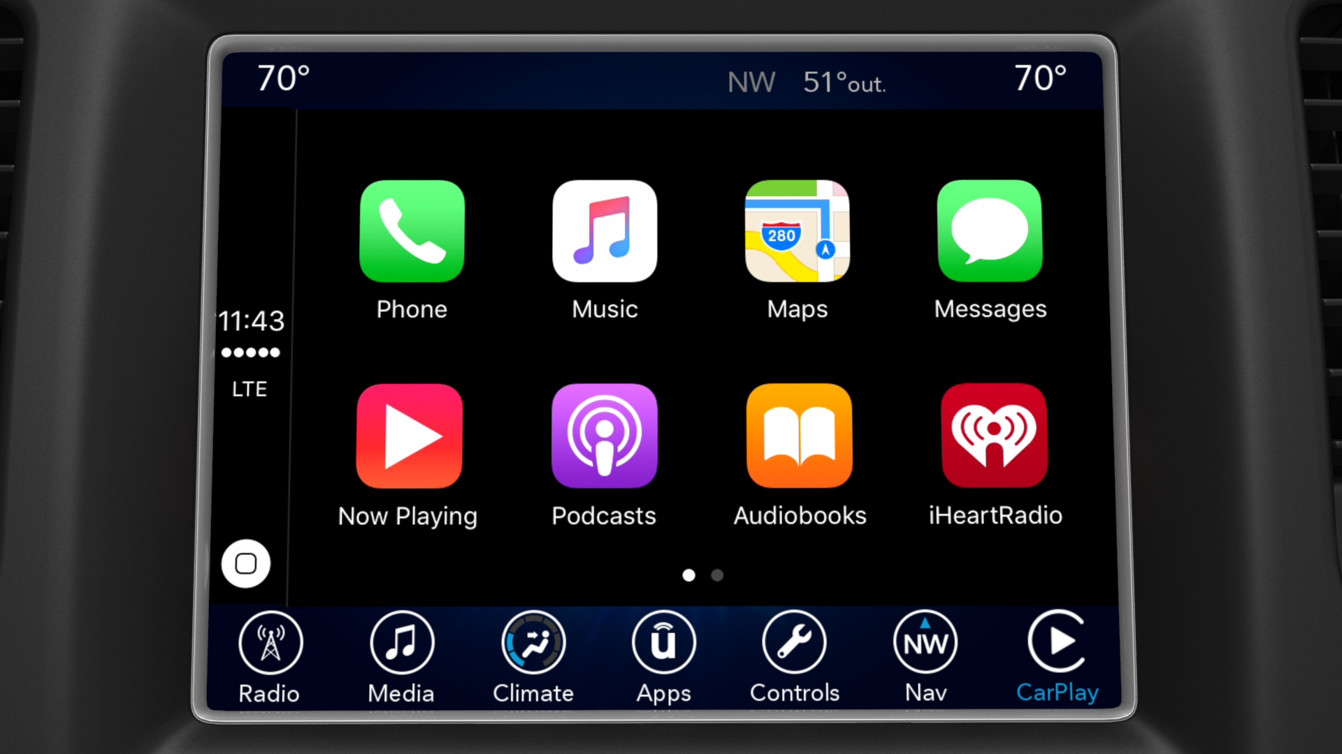 Apple CarPlay interface