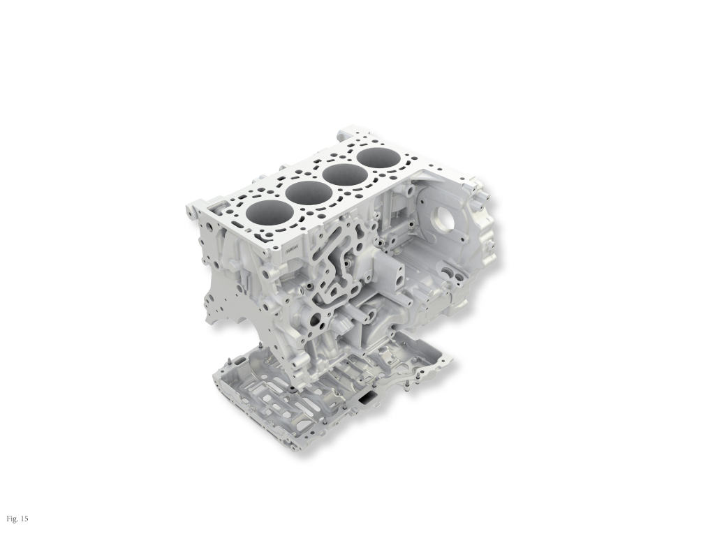 Aluminum engine block of OM 654