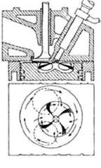 Compression ignition cylinder drawing