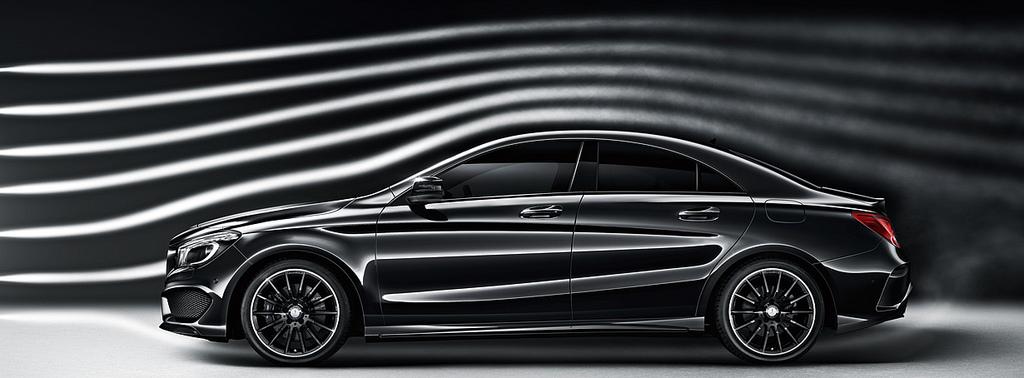 Mercedes CLA aerodynamic tests