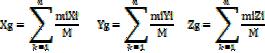 Calcul du centre de gravité