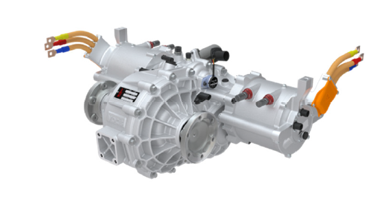 4SED transmission in its housing