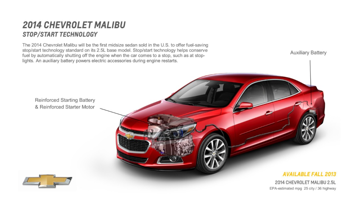 2014 Chevrolet Malibu Start and Stop