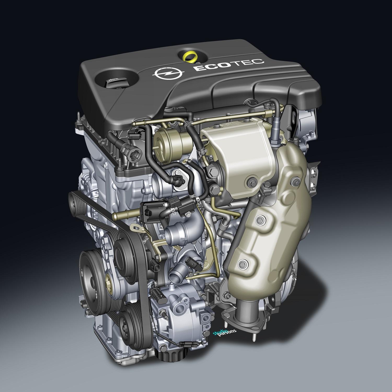 Opel 1.0l SIDI Turbo engine