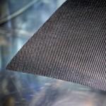 Close up of carbon fibre composite