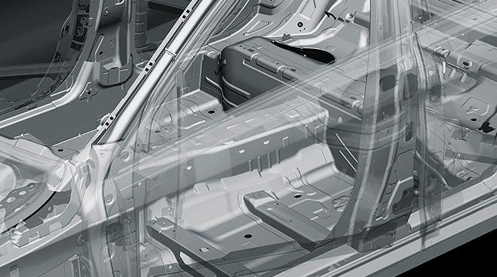 Threshold and suspension lightweight design