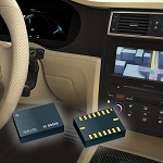SMI130 sensor measures acceleration and yaw rate