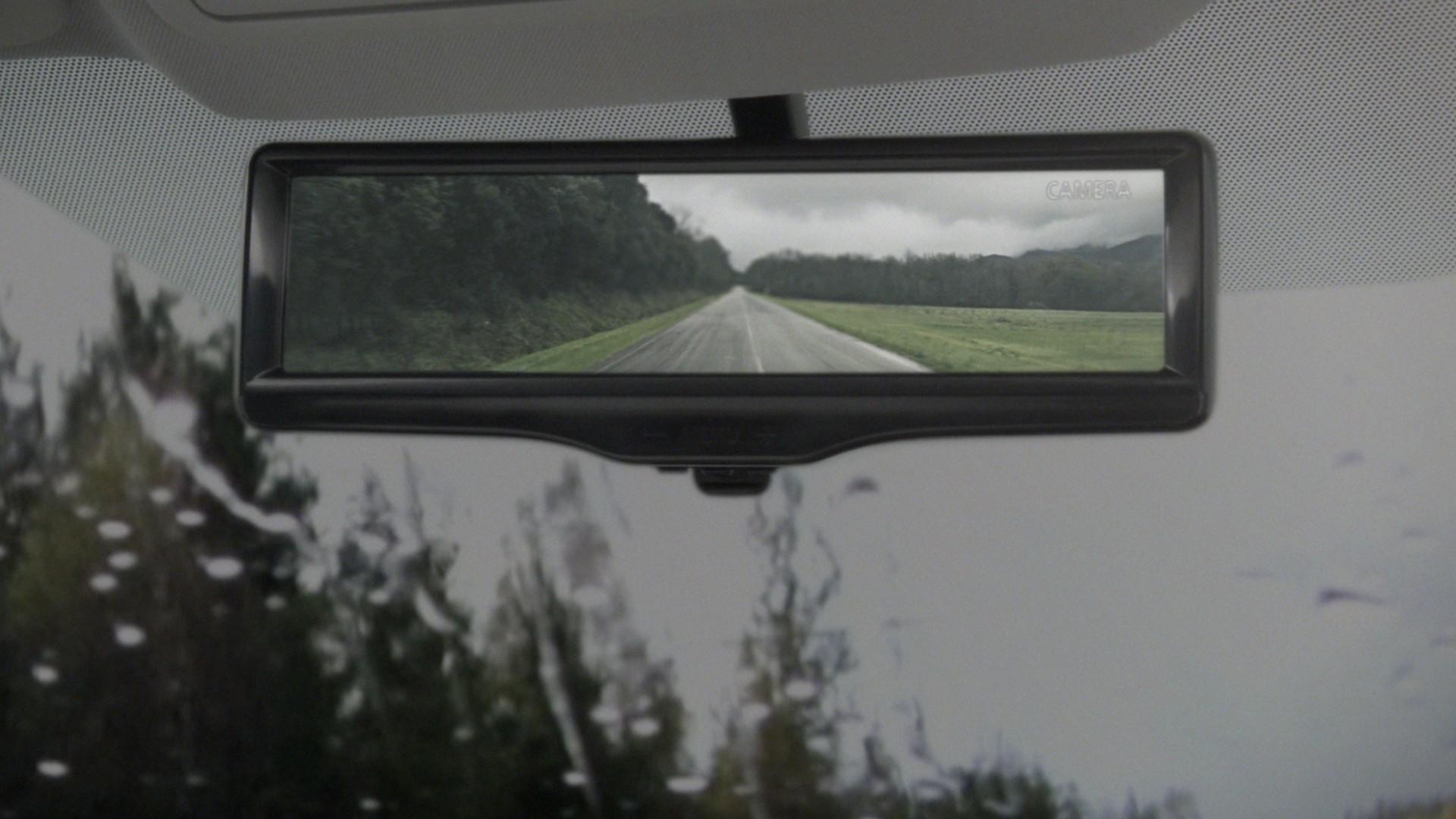 Rétroviseur intelligent sous des conditions de fortes pluies