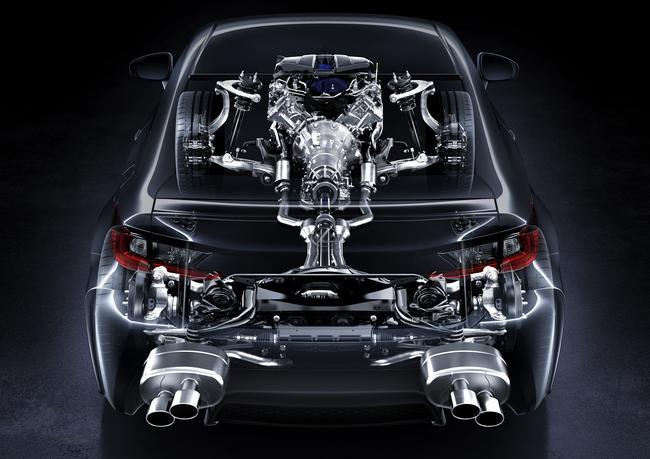 Lexus RC-F see-through back