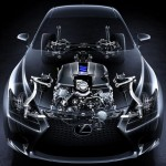 Lexus RC-F seethrough front