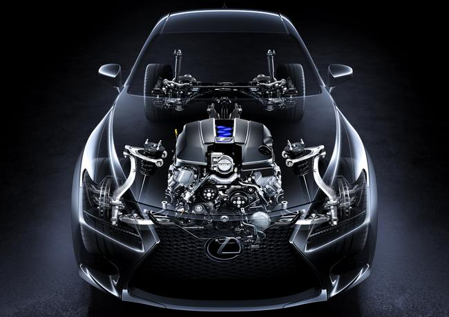 Lexus RC-F see-through front