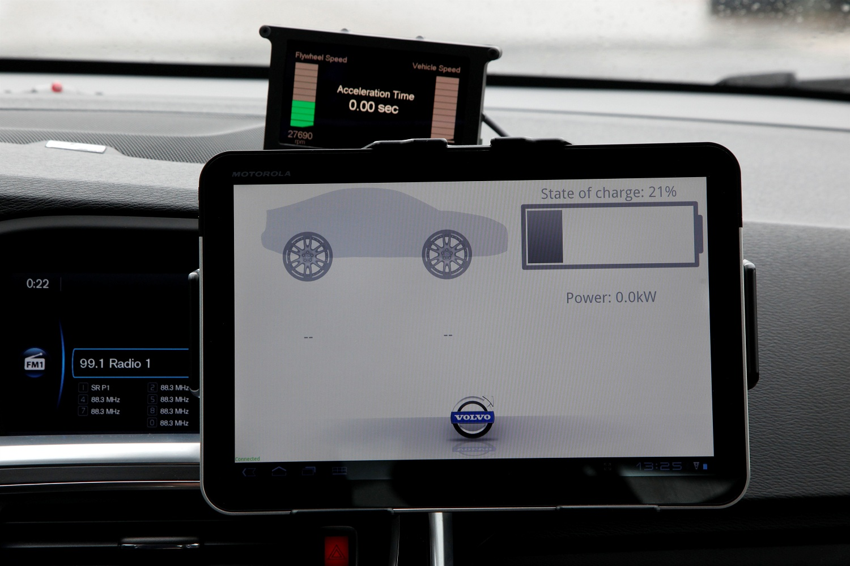 Testing display of the flywheel system