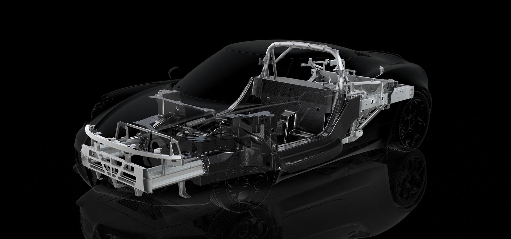 Structure en fibres de carbone de l'Alfa Romeo 4C