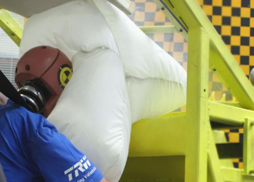 TRW's roof airbag technology