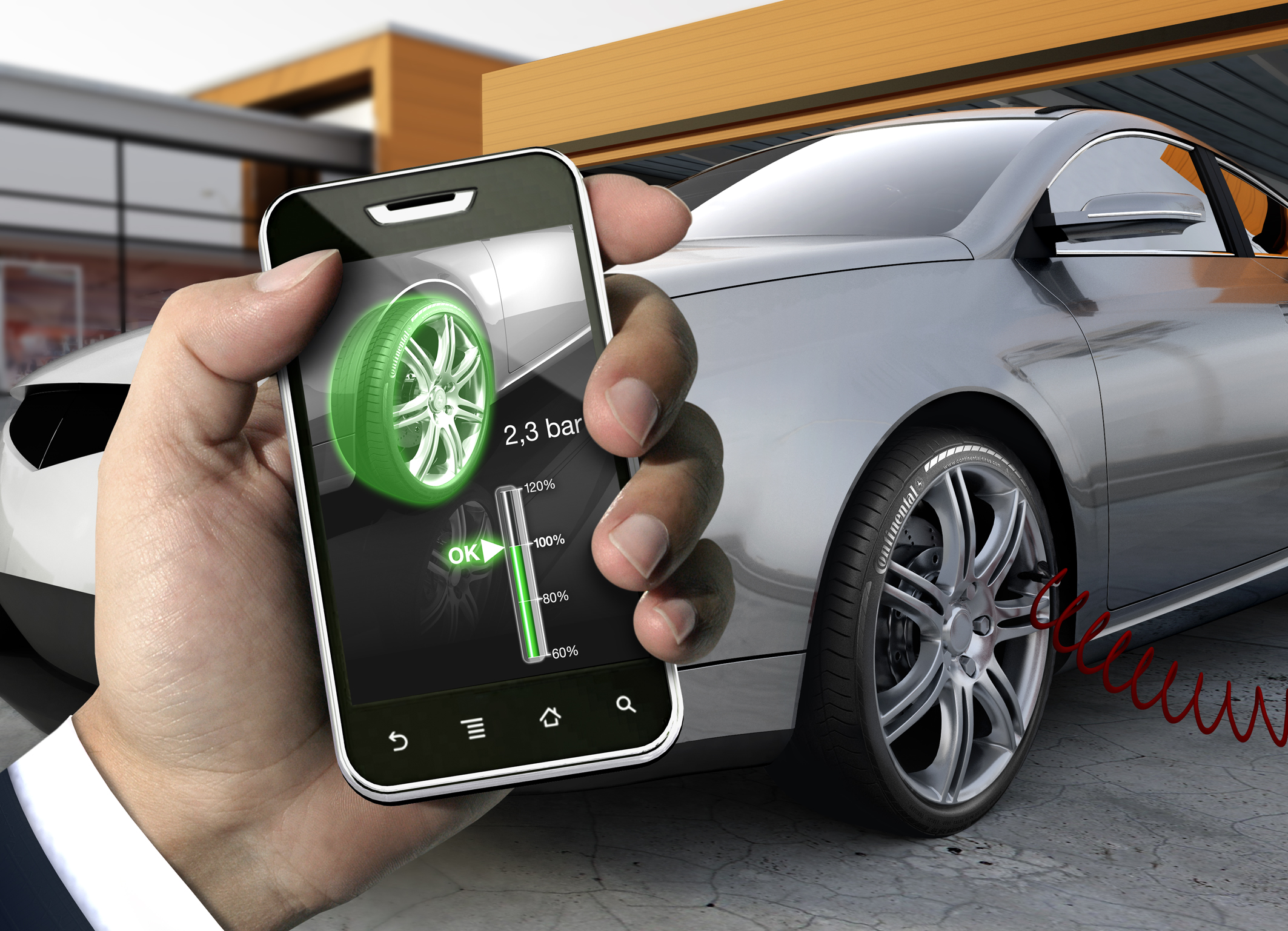 Continental's Filling Assistant Smartphones will help drivers to inflate the tires correctly