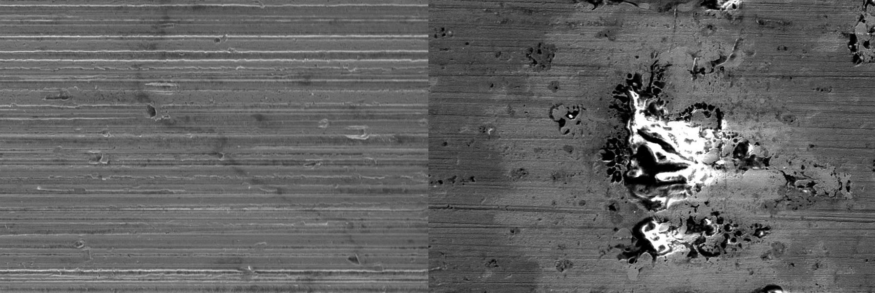Microphoto - Dommages provenant de décharges électriques