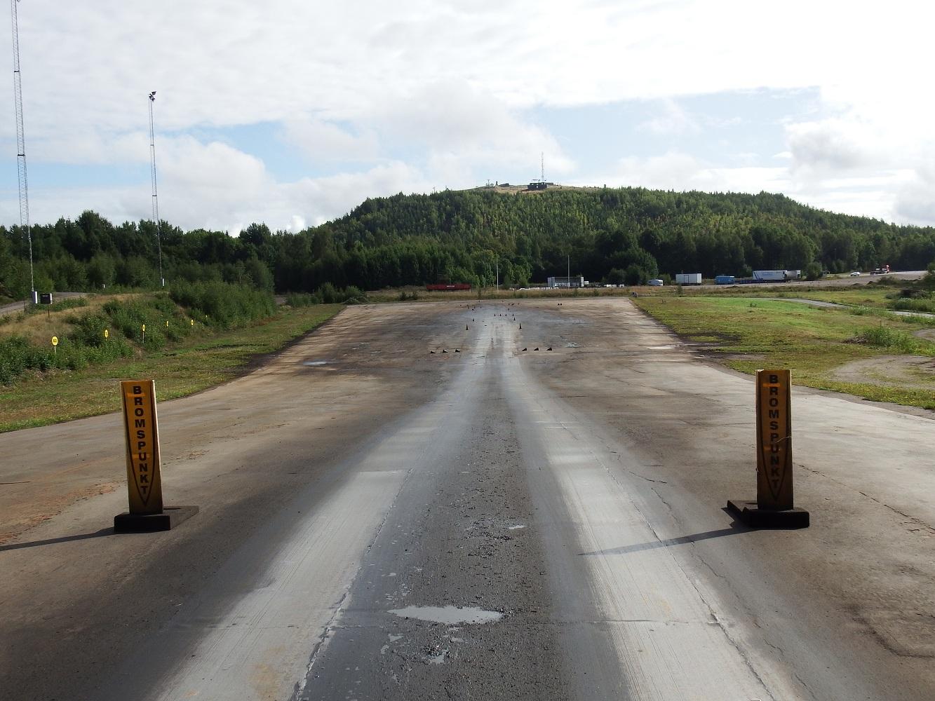 Road friction estimation test track