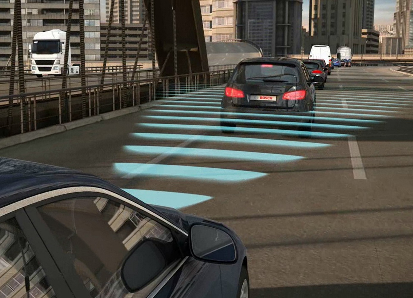 Bosch adaptive cruise control