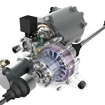 Light-weight torque vectoring transmission for the Visio.M electric car