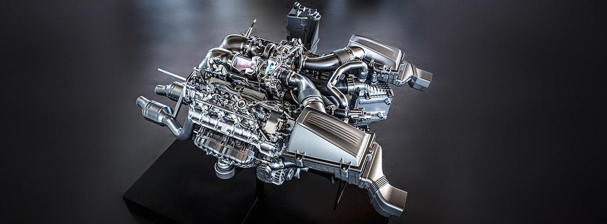 Mercedes-Benz AMG V8 Biturbo engine