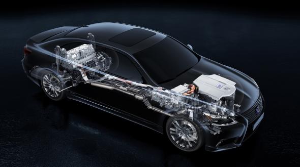 Lexus LS 600h powertrain